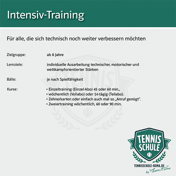 intensiv training